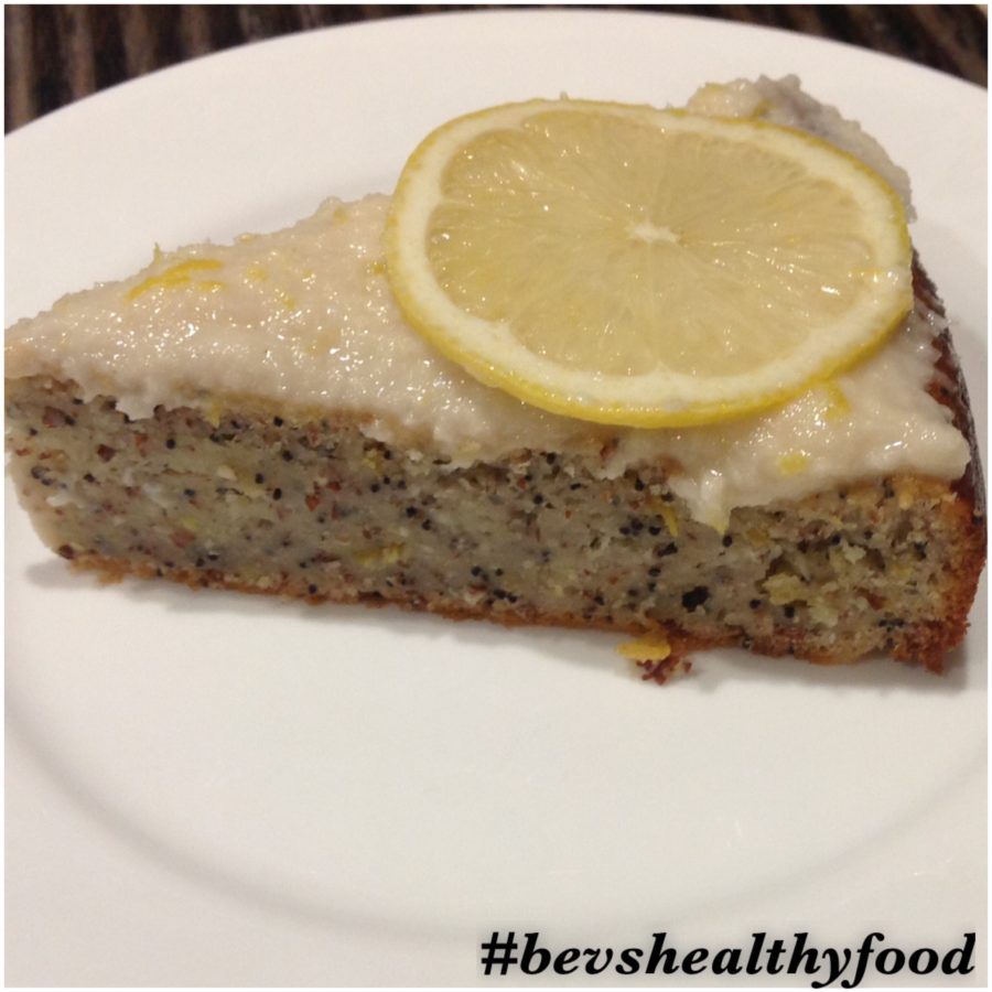 Lemon Poppy Seed & Chia Seed Cake with Lemon Coconut Icing ...