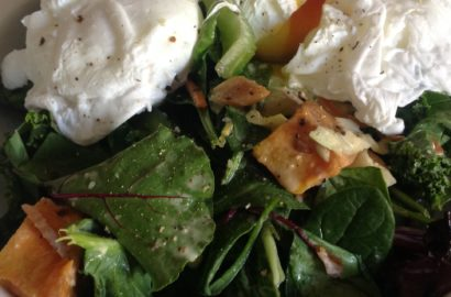 Poached Eggs & Salad