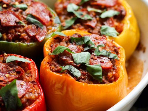 Sweet'n'Sour Pork Stuffed Capsicums
