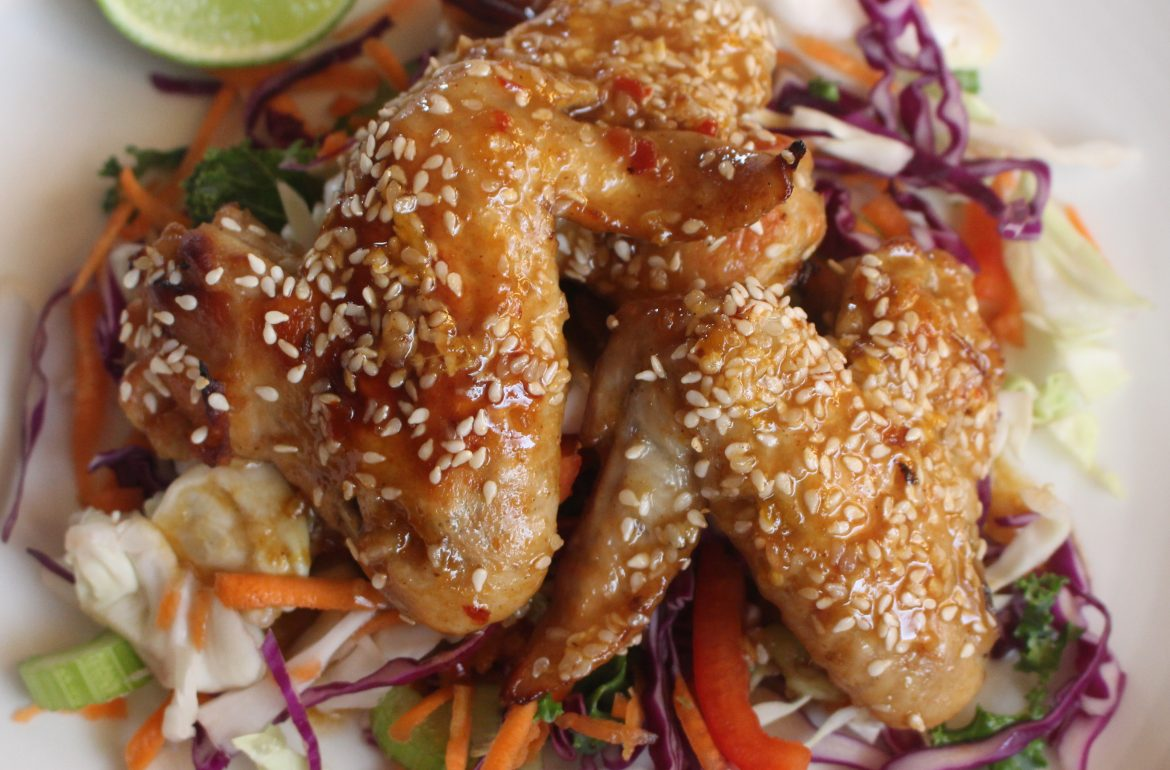 Nutty Spiced Chicken Wings