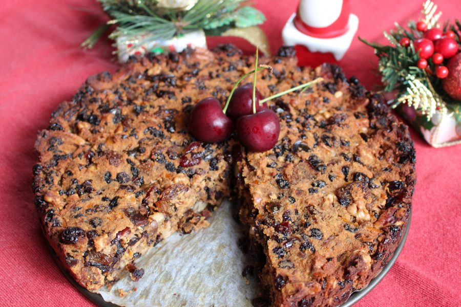 Deliciously Nutty Christmas Cake
