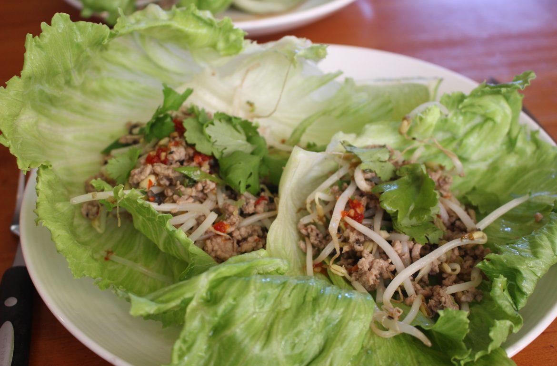 Pork Mince in Lettuce Leaves