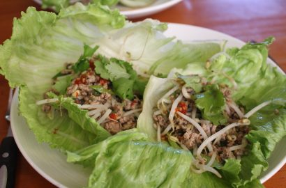 Pork Mince in Lettuce Leaves