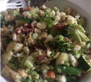 A Bowl of Broccoli & Cauliflower Fried Rice